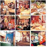 Коллаж фотографий помещений парома Superfast Ferries